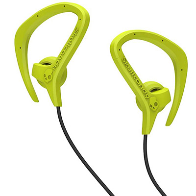 detail produktu - Sluchátka Skullcandy Chops - hot lime/grey